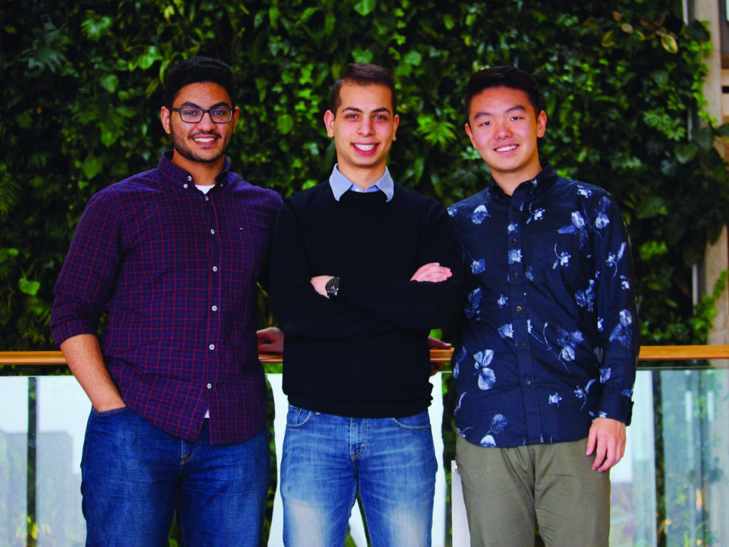 Cuts for Kids founding directors, left to right: Ahmed Mohamed, Ibrahim Musa, Johnny Xi. Photo: Tomiko Liu