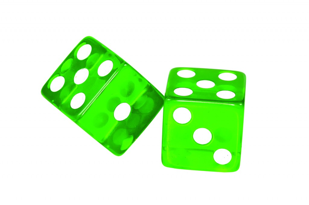 Green Dice - Clipping Path