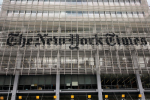 The New York Times offices near the Port Authority in Manhattan, New York.